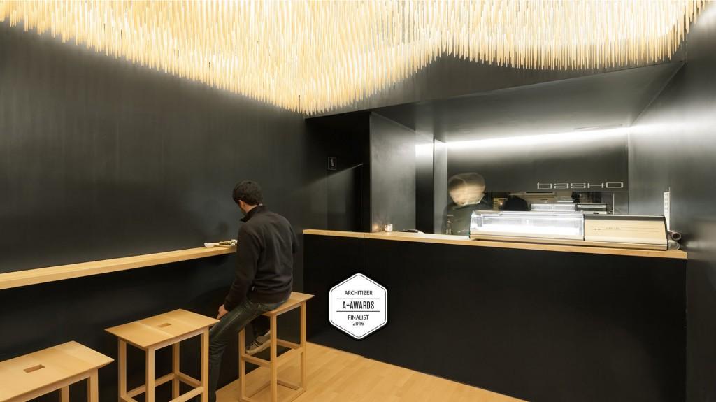 BASHO SUSHI HOUSE: FINALISTS IN ARCHITIZER A+AWARDS